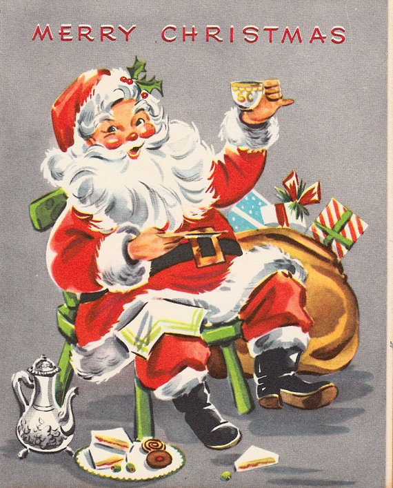 This image of Santa Claus represents perfectly the economic boom of the 1950s, a period of prosperity and economic growth.