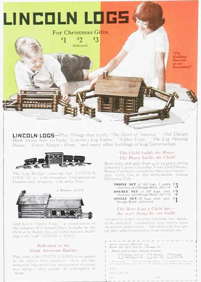 Lincoln Logs, 1920s