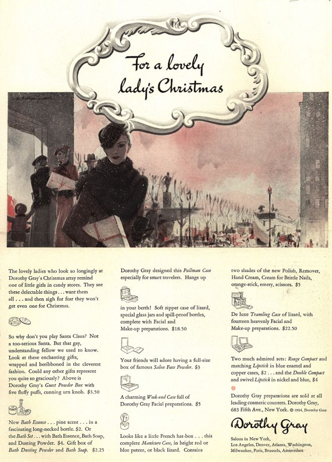 Dorothy Gray – For a lovely lady's Christmas (1934)