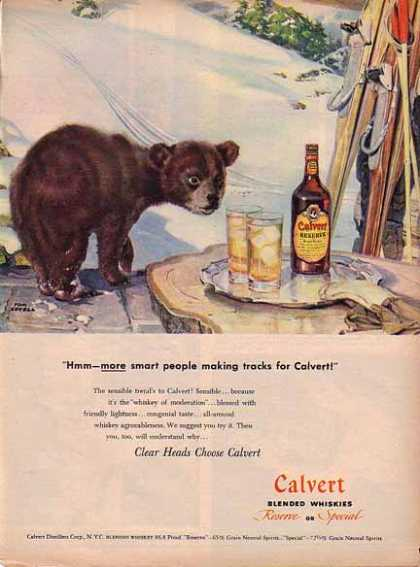 Calvert Whiskies Holiday Winter – Bear Cub (1947)