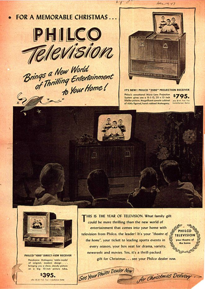 Philco's Projection Television, 1947