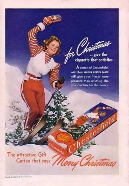 Chesterfield Cigarettes, 1940