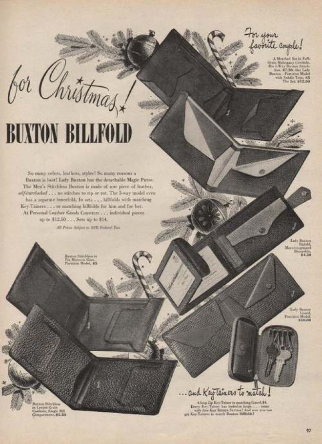 For Christmas Buxton Billfolds (1946)