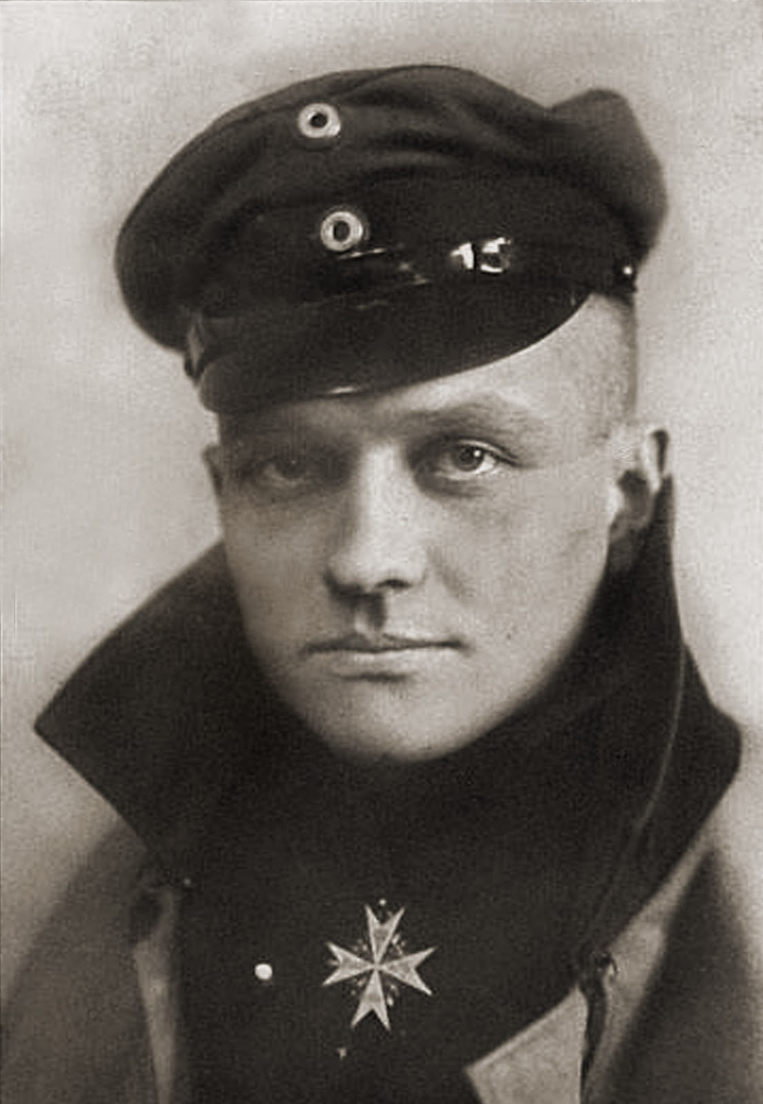 "The Red Baron wearing the medal ""Pour le Mérite""."