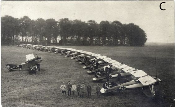"Red Baron squadron Jasta 11 airplanes. They used to make crazy things in the air - they used to win a lot of battles with this tactics - and for this reason they were called ""Flying Circus"" or ""Richthofen Circus""."