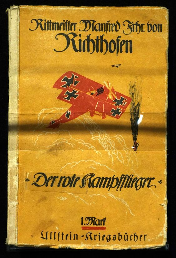 During his convalescent leave, Richthofen wrote an autobiographic book, Der rote Kampfflieger, also translated in English as The Red Battle Flyer.