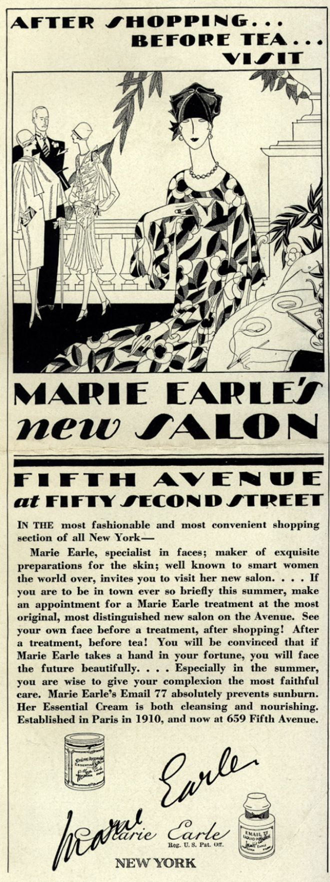 Beauty salon advertising of 1926. 18,000 beauty parlours opened just in America by the end of the 1920s.