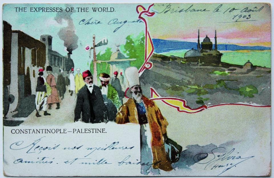 Postcard from 1903 with the Orient Express
