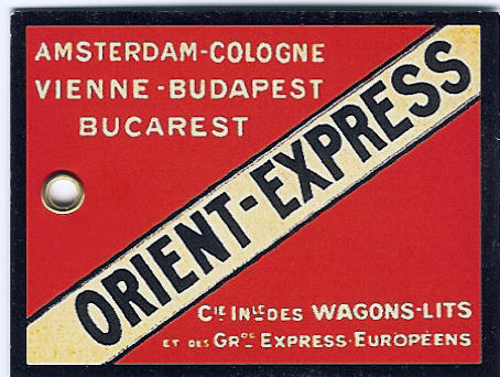 Luggage tag of the Orient Express