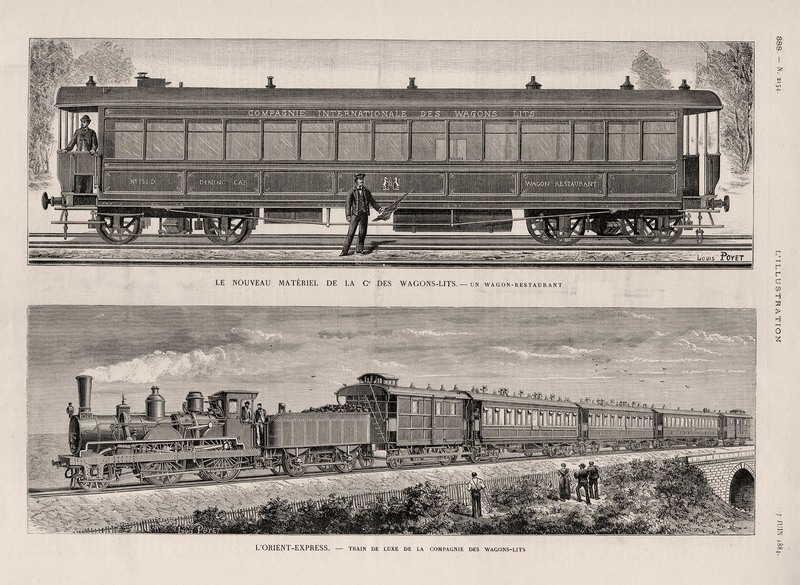 The first Orient Express featured in L'Illustration, 1884