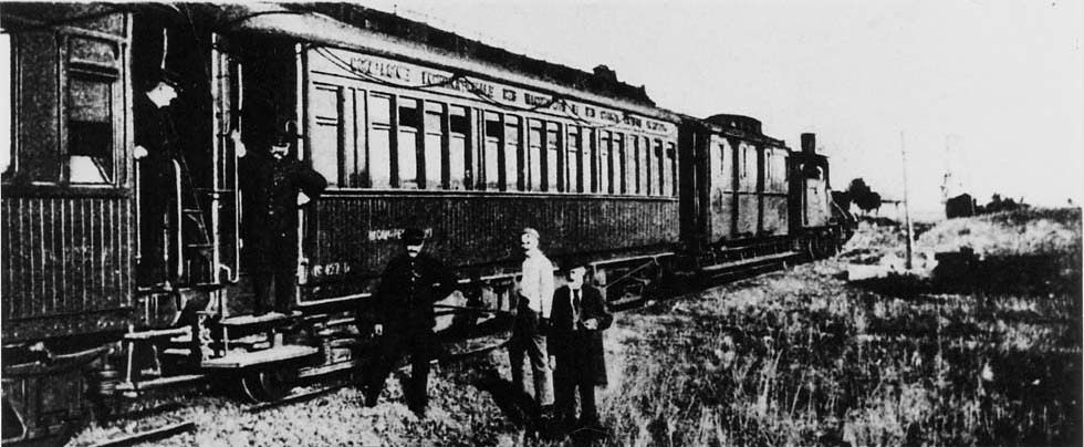 The Orient Express at the Turkish border in 1894
