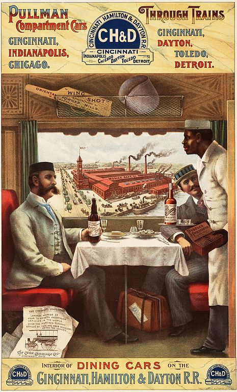 The American counterpart of the Orient Express: the Pullmann Car, Lithograph advertisement, Strobridge & Co, 1894.