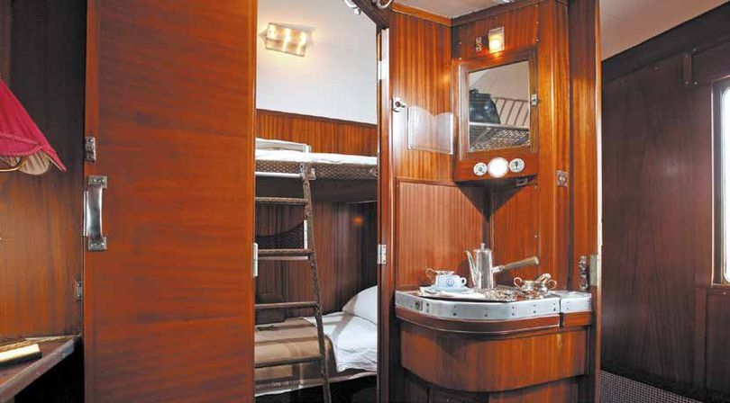 "The wagon lit with the bathroom sink. ""Once upon a time the Orient Express"", Paris, 2014"