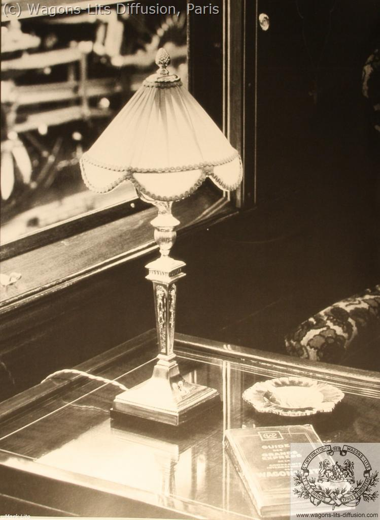 Details of the lamp in the restaurant car, CIWL, 1920s
