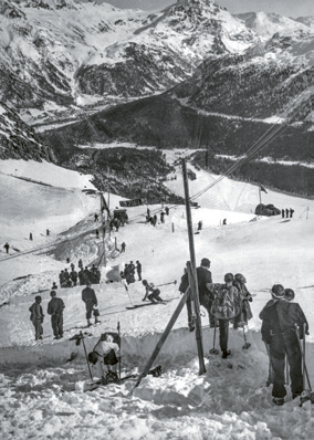 Finish area slalom, 1934