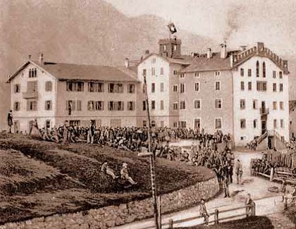Johannes Badrutt's The Kulm Hotel in 1860