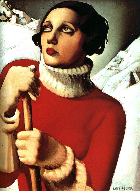 """Saint Moritz"" by   Art Deco   painter Tamara de Lempicka, 1929"