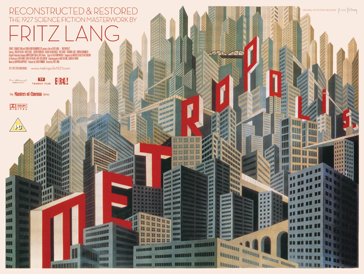 The advertising poster created for the presentation of a restored Metropolis at the Berlin International Film Festival in February 2010