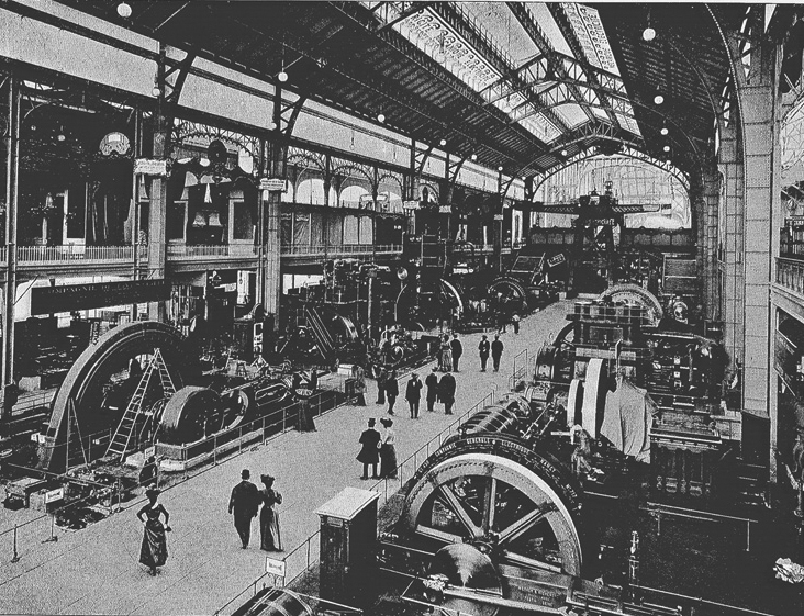 Inside the gallery of machines, 1900