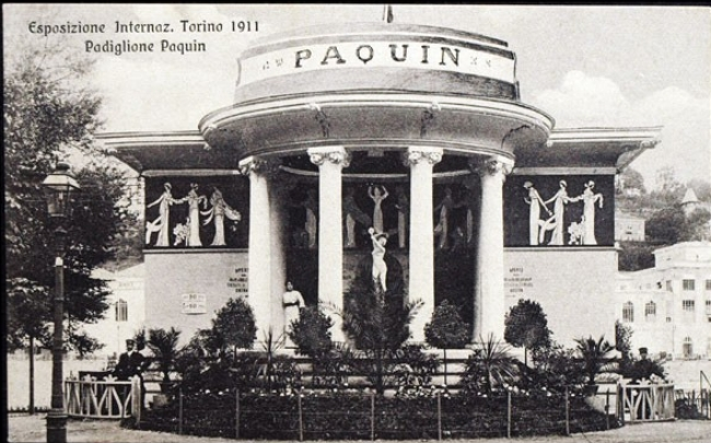 The Paquin Greek style pavilion at the Turin Wordl Fair, 1911