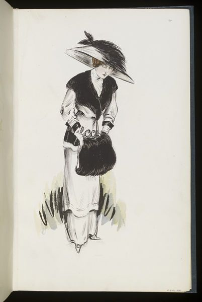 Jeanne Paquin, Hiver, 1911, Sketch