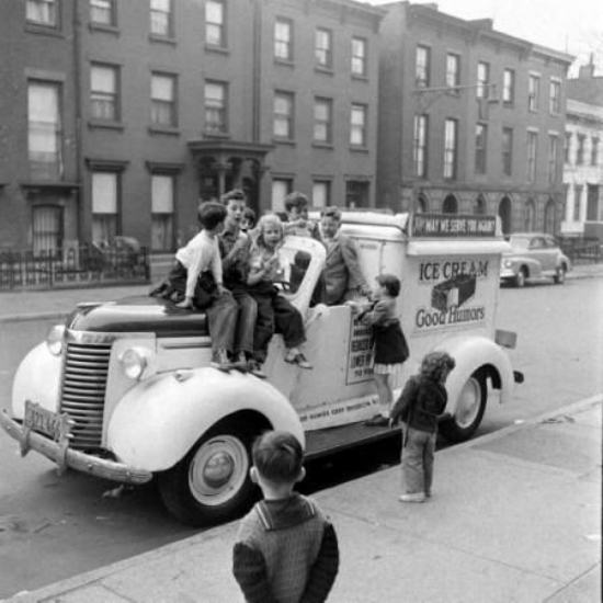 Children waiting for their ice-cream, Brooklyn, 1949