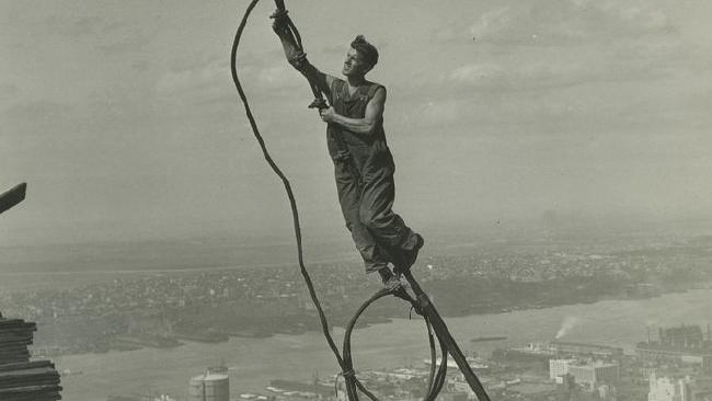 Construction worker in New York, 1930s