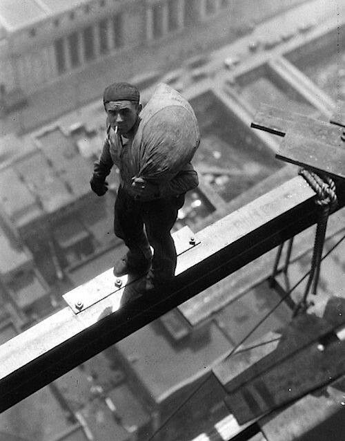 The construction of the Empire state Building, 1930