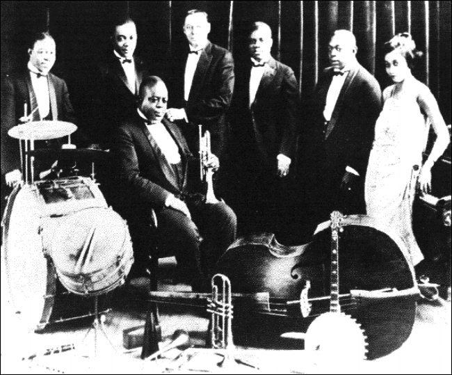 King Oliver's Creole Jazz Band - King Oliver's Creole Jazz Band from New Orleans was one of the best and most important bands in early Jazz. The Creole Jazz Band was made up of the cream of New Orleans Hot Jazz musicians, with young lion Louis Armstrong on second cornet.