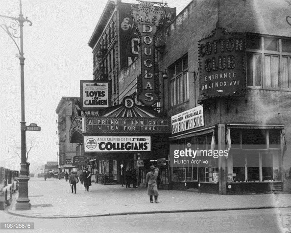 A trade sign indicating the entrance of the Cotton Club Speakeasy night club in 1920s. It was originally located at the corner of Lenox Avenue and W. 142nd St. in Harlem. But after the 1935 race riots in Harlem, the area was considered unsafe for whites — who comprised the majority of the Cotton Club's clientele — and the club was forced to close in February 1936. It reopened in September 1936 downtown on 200 W. 48th St.