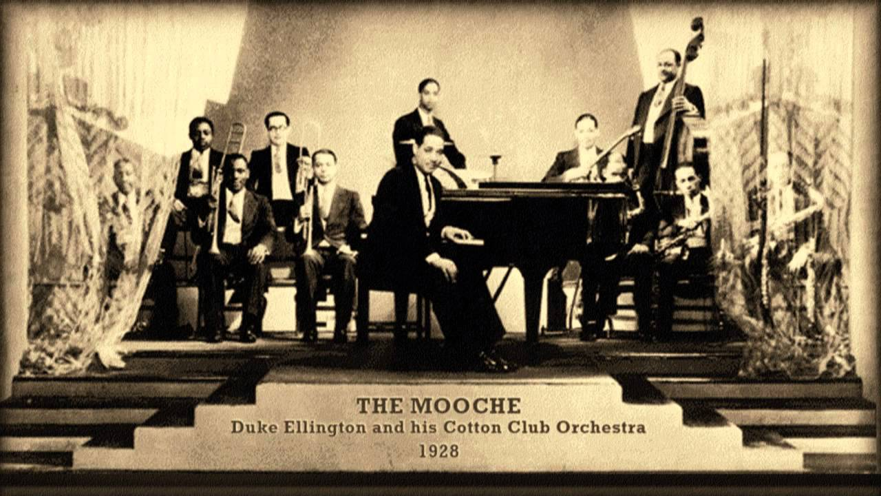 Duke Ellington and his Cotton Club Orchestra - The Mooche (1928). Duke Ellington led that band from 1927 to 1930, and sporadically throughout the next eight years. The Cotton Club and Ellington's Orchestra gained national notoriety through weekly broadcasts on radio station WHN some of which were recorded and released on albums.