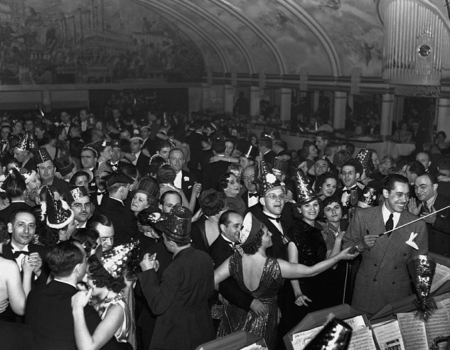 Cab Calloway on New Year's Eve at The Cotton Club, 1937. Cab Calloway and his orchestra replaced Duke Ellington band after Duke left the club in 1931. They were replaced by Jimmy Lunceford and His Orchestra in 1934 and came back in 1937.