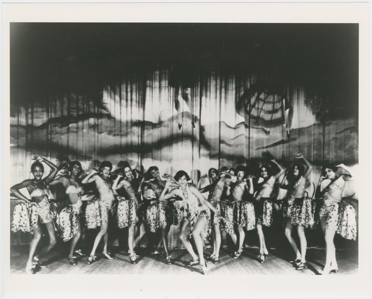 Maude Russel and her Ebony Steppers, performing in the 1929 Cotton Club show called 'Just A Minute'.
