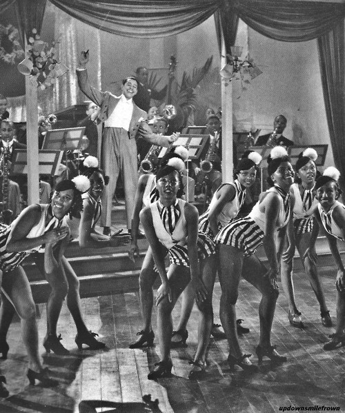 Cab Calloway and dancers at the Cotton Club in 1937