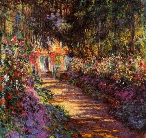 The Flowered Garden, Claude Monet