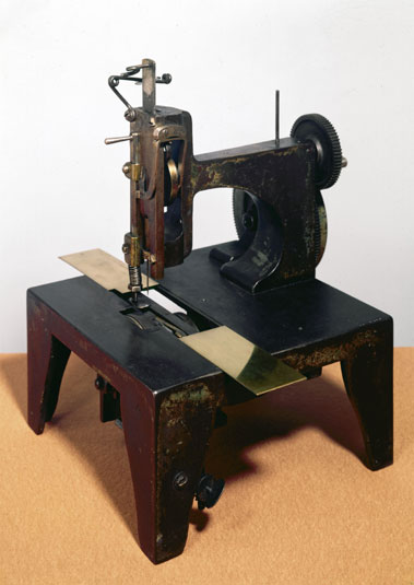Isaac Singer sewing machine (for which he received the patent in 1851), 1853