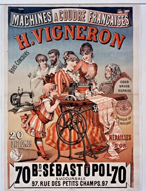 "Advertising,  ""Machine à coudre H Vigneron"", 1885"