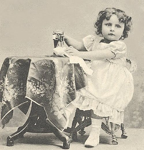 Sewing machine for babies,1885