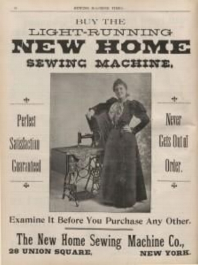 New home sewing machines, 1860