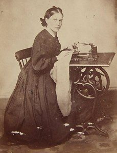 One of the first sewing machines, 1860 ca