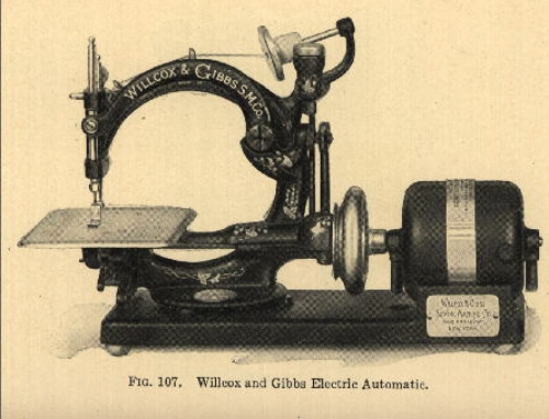The Willcox & Gibbs Company sewing machine, 1859