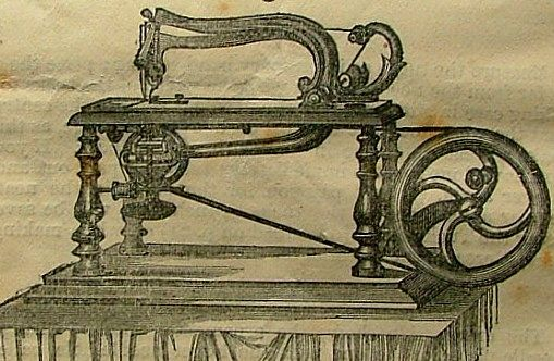 The Grover & Baker sewing machine hand attachment, an optional extra in 1863