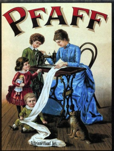 Pfaff sewing machine, 1899