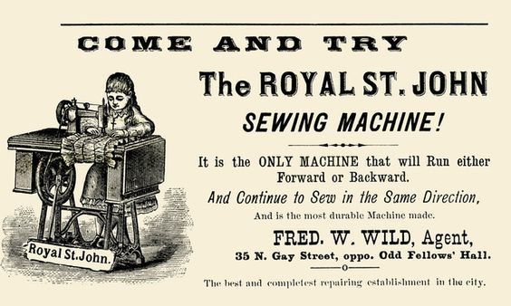 Royal st. john sewing machine, 1900
