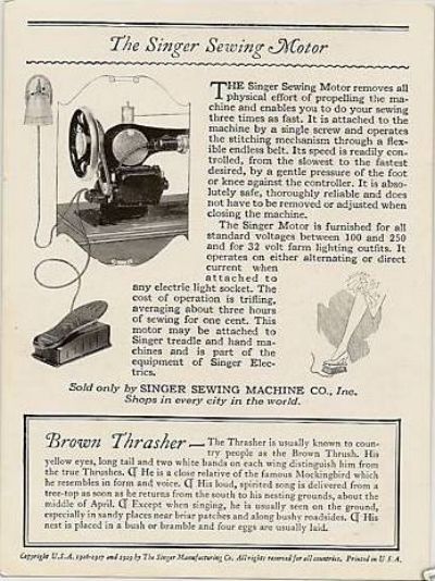 Advertising card from 1920s showing motor kit (