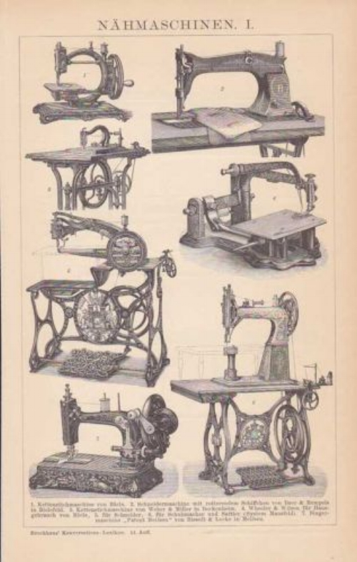 The evolution of sewing machines