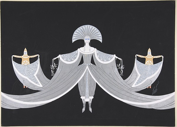 """La Mer Blanche"", Costume Design for ""Les Mers,"" George White's Scandals by Erté, 1923"