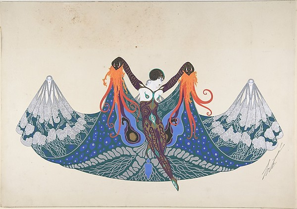 """L'Océan"", Costume Design for ""Les Mers,"" George White's Scandals by Erté, 1923"