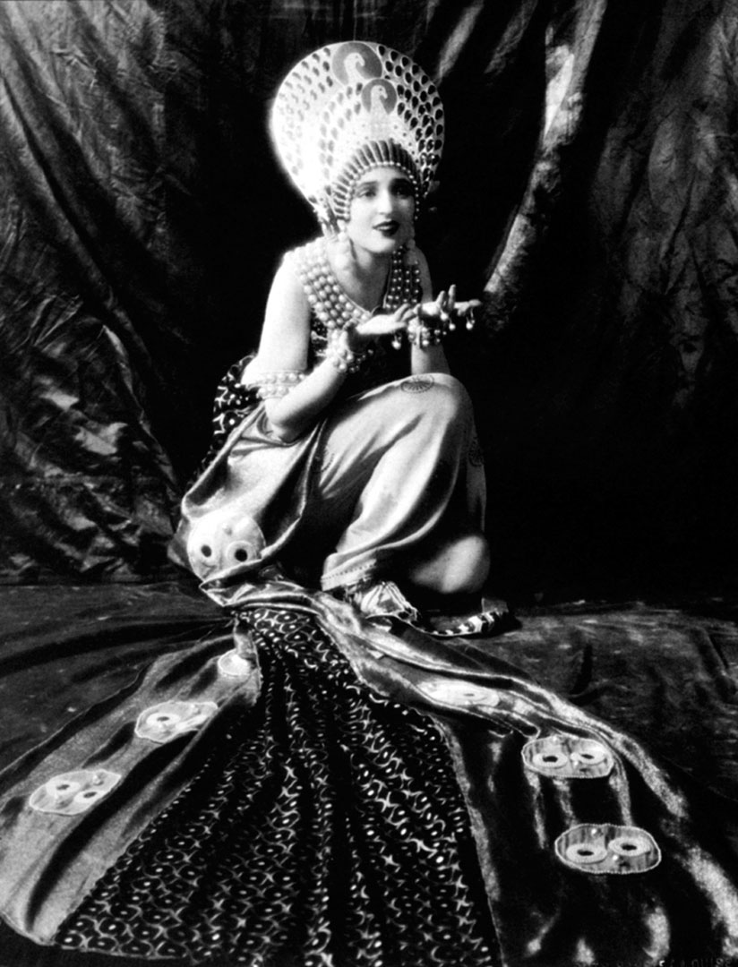 "The actress Carmel Myers in Erté's costume from ""Ben-Hur"" MGM Studios, 1925"