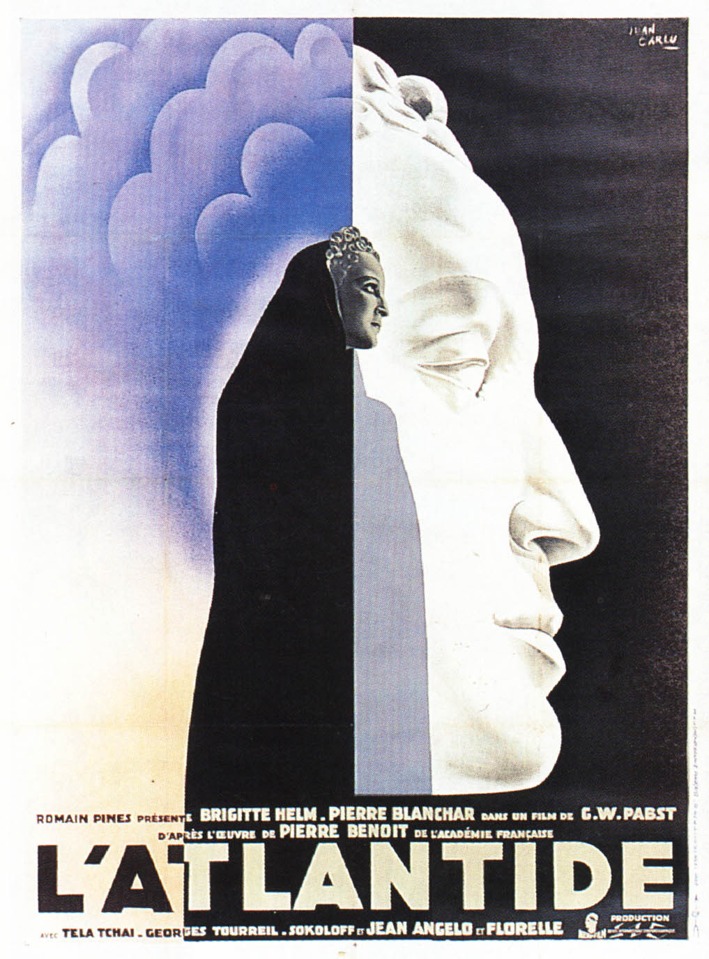 """Advertising poster for the movie """"L'Atlantide"""", 1932"""